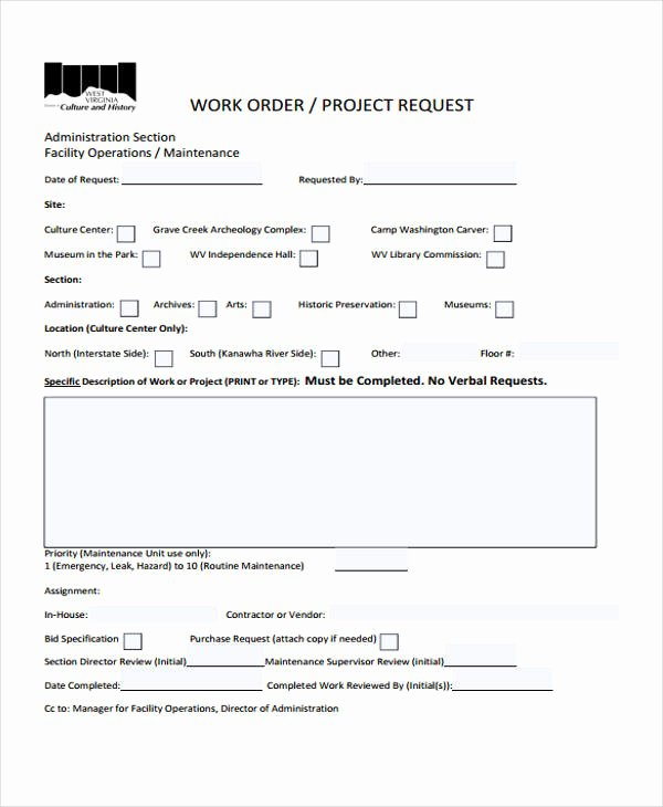 Work Request form Template Awesome 10 Work order Templates Pdf Apple Pages