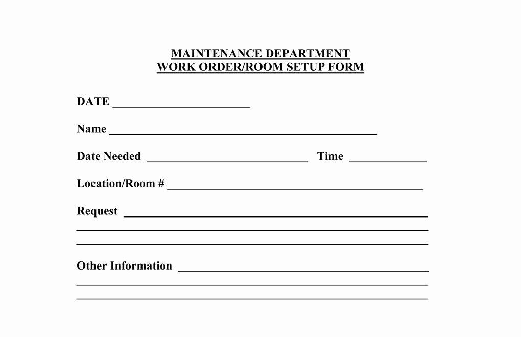 Work Request form Template Awesome Operations forms