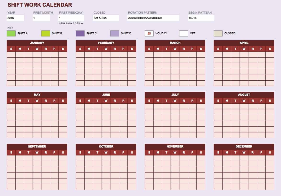 Work Schedule Calendar Template Beautiful Free Blank Calendar Templates Smartsheet