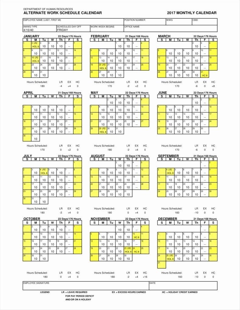 Work Schedule Calendar Template Best Of 13 Employee Calendar Templates Free Samples Examples