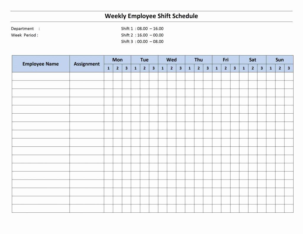Work Schedule Calendar Template Inspirational Weekly 8 Hour Shift Schedule