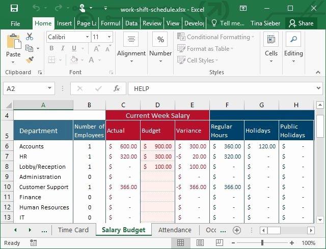 Work Schedule Template Excel Beautiful Tips & Templates for Creating A Work Schedule In Excel