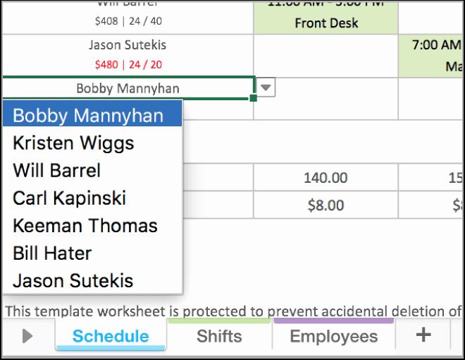 Work Schedule Template Excel Inspirational Free Excel Employee Scheduling Template