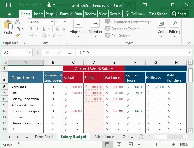 Work Schedule Template Excel New Tips & Templates for Creating A Work Schedule In Excel