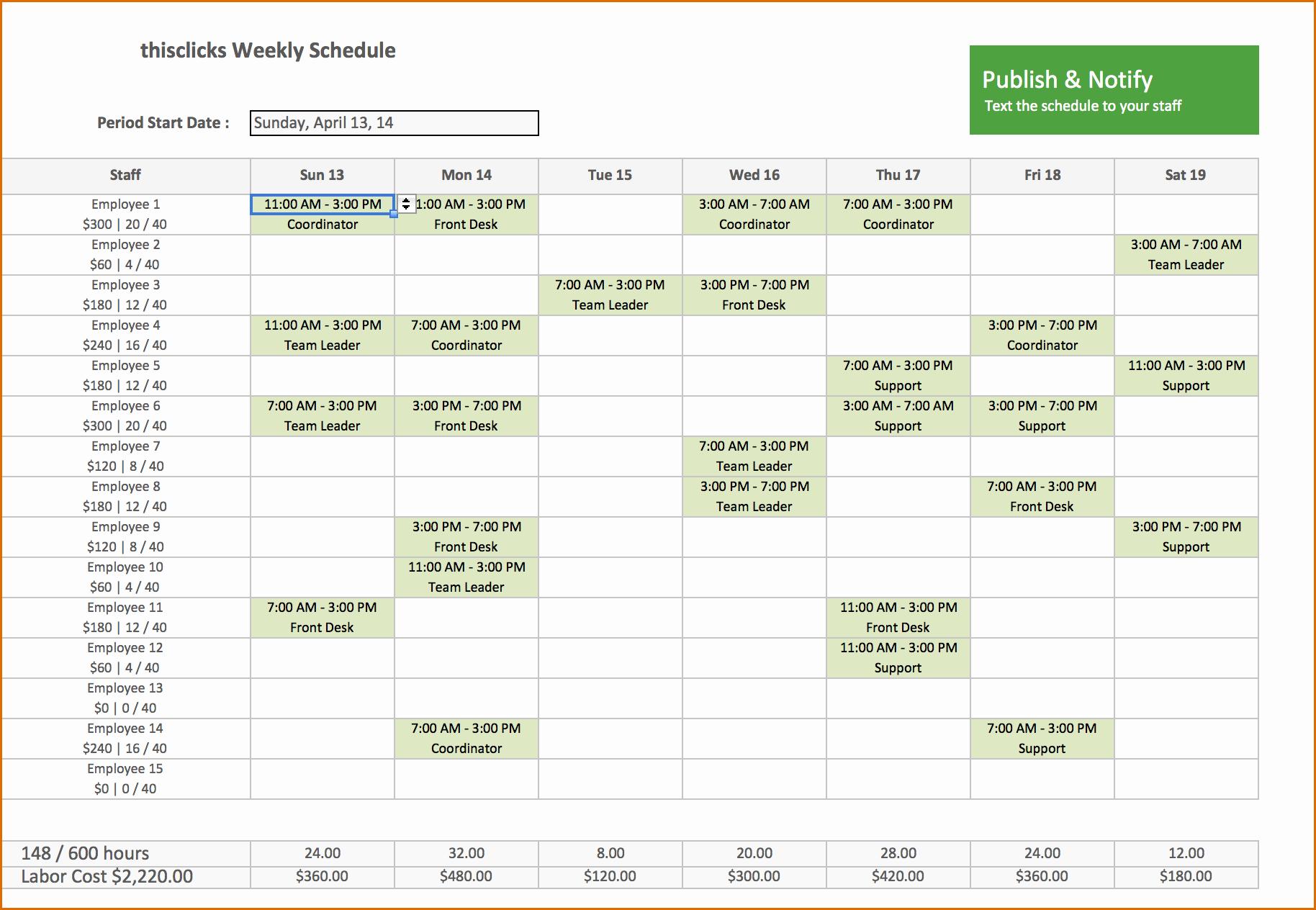 Work Schedule Template Excel Unique 8 Excel Scheduling Template