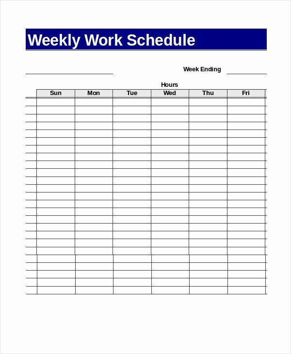 Work Schedule Template Weekly Fresh 13 Sample Excel Schedule Templates Free Example