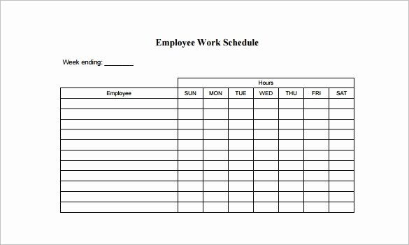Work Schedule Template Weekly Luxury Free Employee Schedule Template