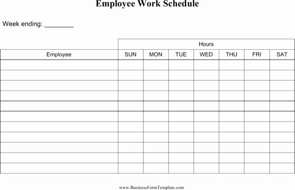 Work Schedule Template Word Awesome Download Blank Employee Work Schedule Template Word Doc