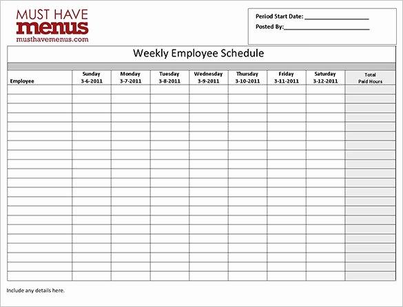 Work Schedule Template Word Luxury Employee Work Schedule Template 17 Free Word Excel