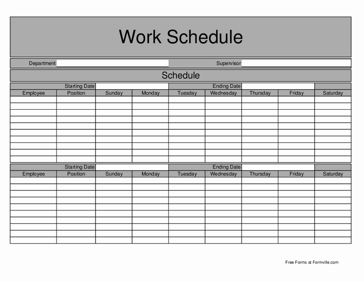 Work Week Schedule Template Best Of 15 Best Of Work Schedule Worksheet College