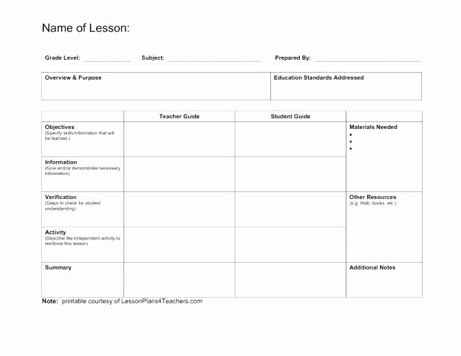 Workshop Lesson Plan Template New after School Lesson Plan Sample