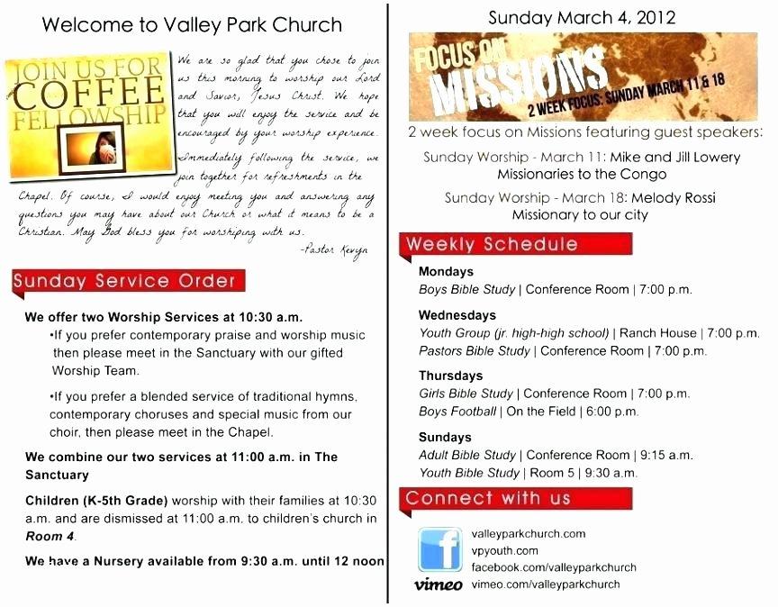 Worship Service Planning Template Elegant Blank Church Bulletins Lovely Bulletin Insert Template