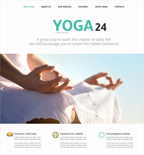 Yoga Class Plan Template Best Of 25 Yoga Website themes & Templates