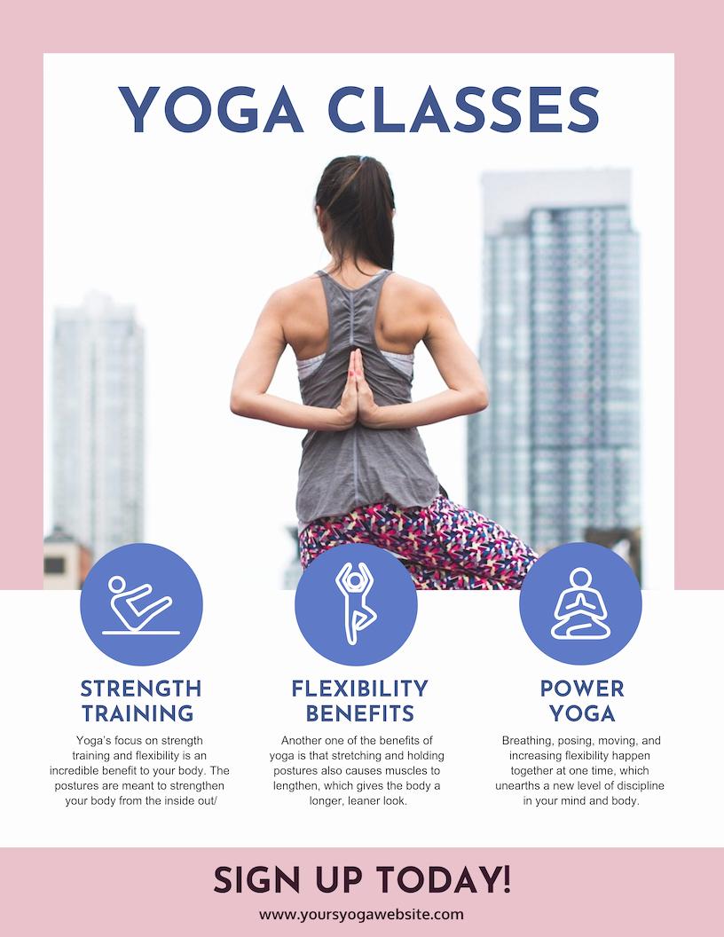 Yoga Class Plan Template Fresh Yoga Class Poster Template Venngage