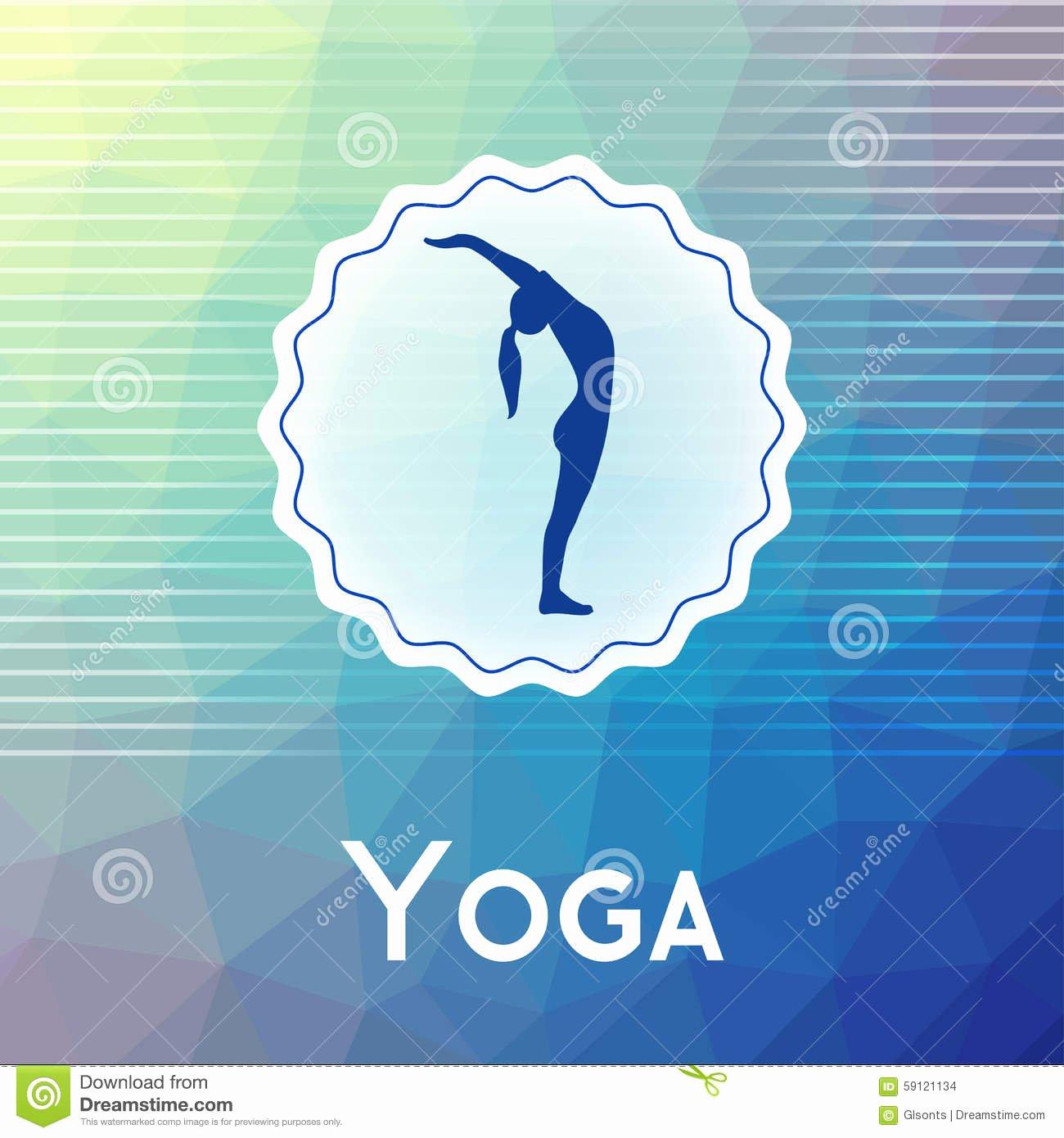 Yoga Class Plan Template Lovely Name Yoga Studio A Modern Polygonal Background