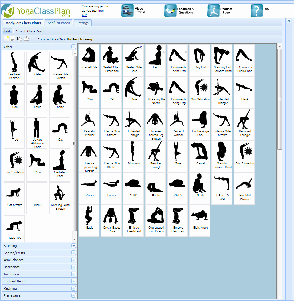 Yoga Class Planning Template Beautiful A Simple Point Click and Drag Yoga software tool Designed