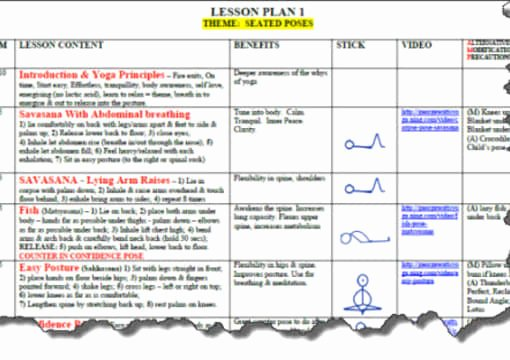 Yoga Class Planning Template Luxury Send You A Yoga Lesson Plan Template In Microsoft Word by