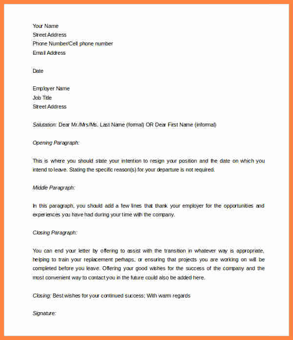 2 Weeks Notice Email Template Best Of 10 Template for Week Notice