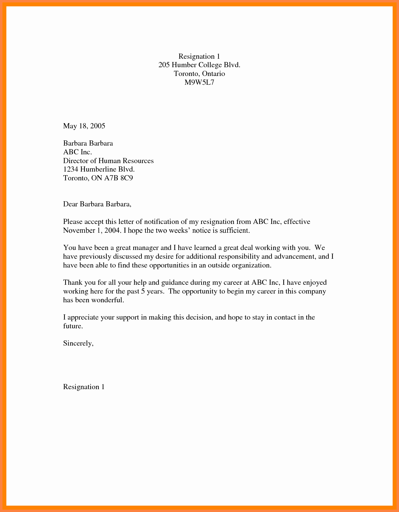 2 Weeks Notice Email Template Best Of 7 Example Two Weeks Notice Email