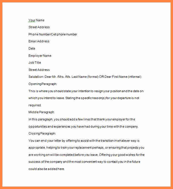 2 Weeks Notice Email Template Lovely 7 Example Two Weeks Notice Email