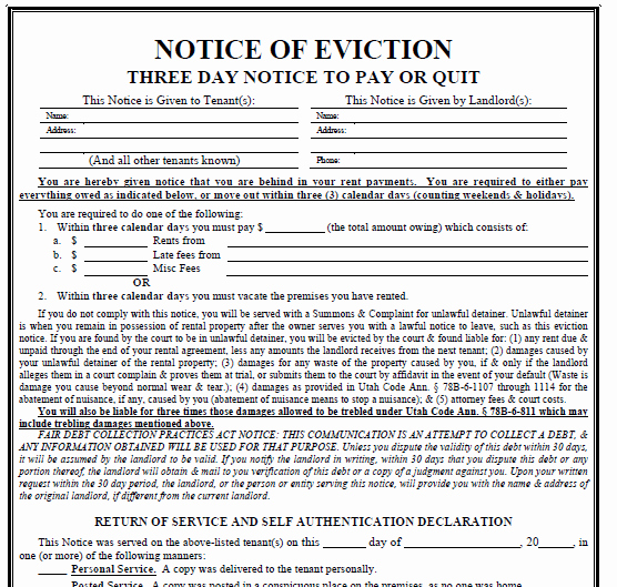 3 Day Notice Template Best Of Printable Sample 3 Day Eviction Notice form