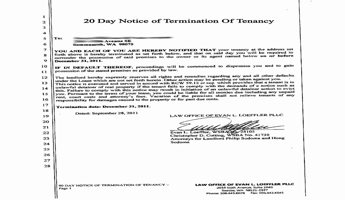 30 Day Notice oregon Template Luxury 30 Day Eviction Notice Free Printable Documents