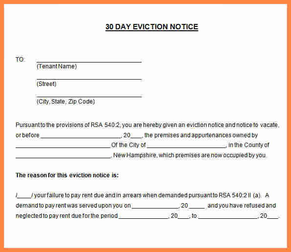60 Day Eviction Notice Template New 9 Sample 30 Day Notice to Tenant
