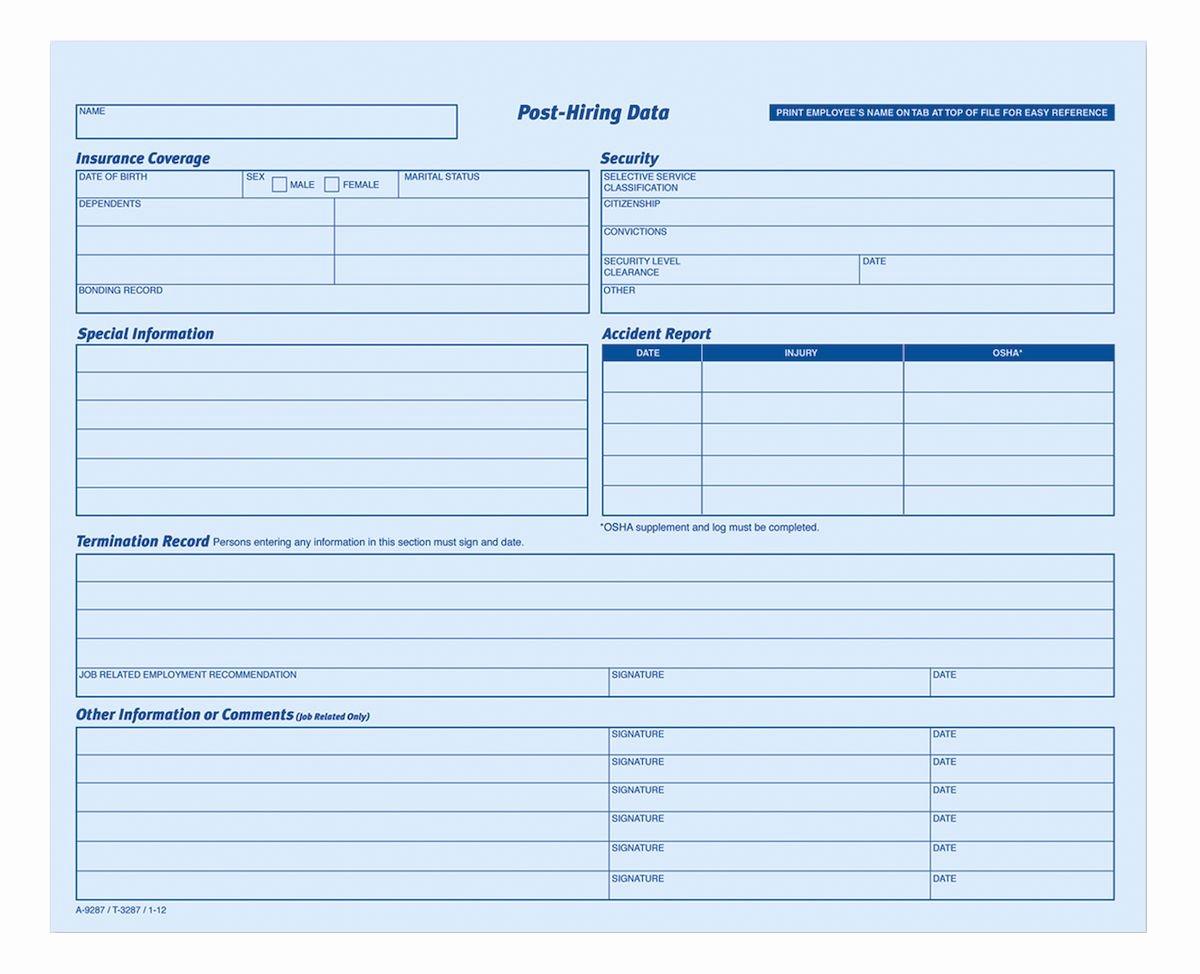 Adams Gift Certificate Template Fresh Adams Employees Personnel File Folder Heavy Card Stock