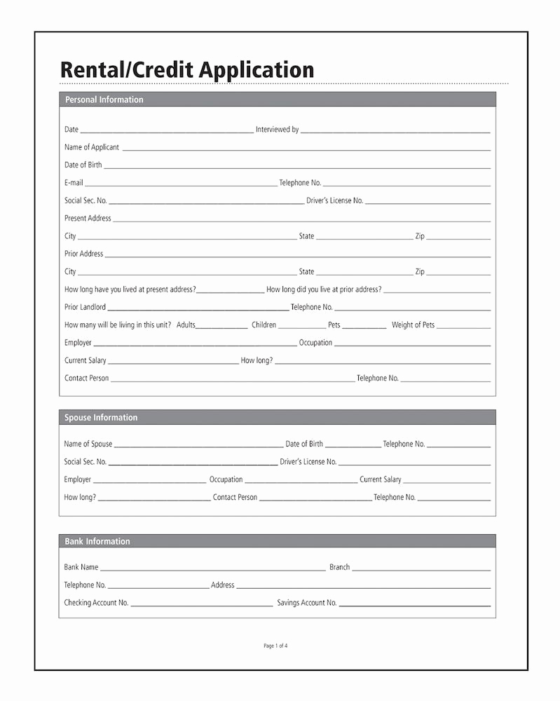 Adams Gift Certificate Template New Adams Rental Credit Application forms and Instructions