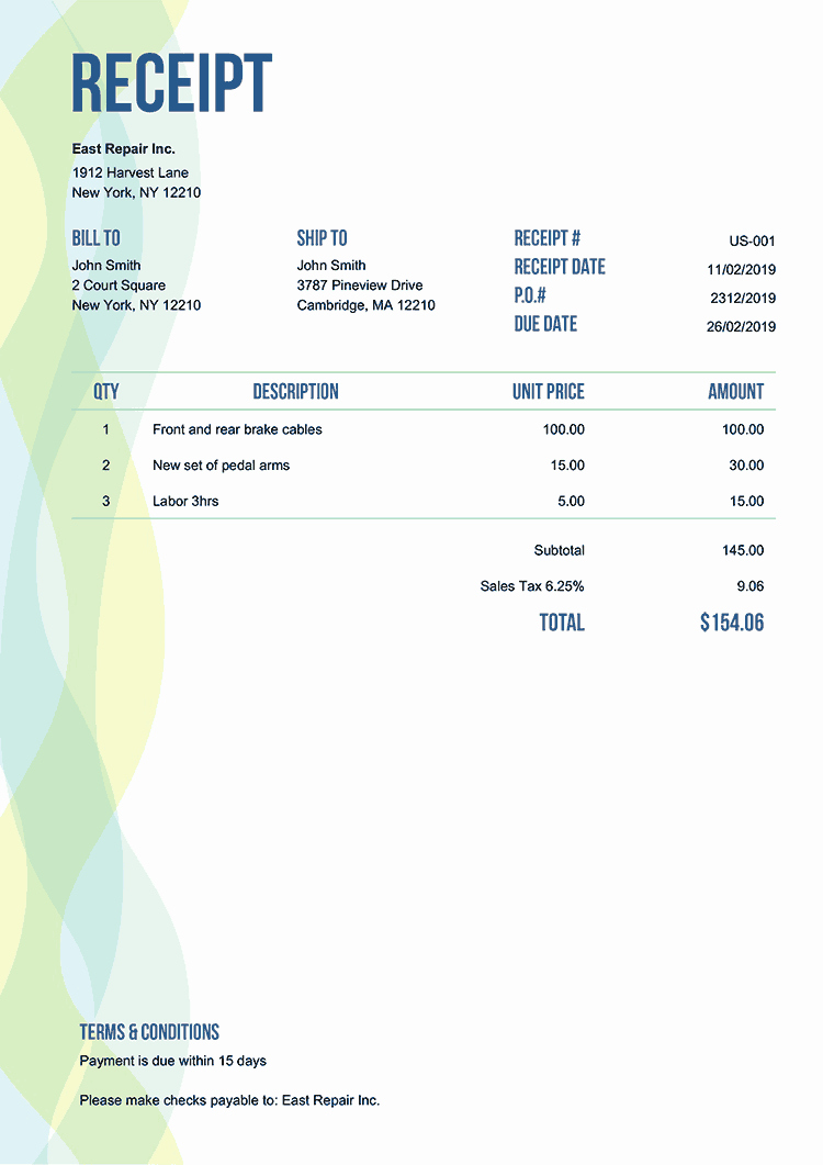 Appliance Repair Invoice Template Awesome 100 Free Receipt Templates