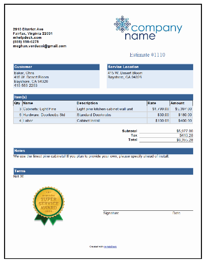 Appliance Repair Invoice Template Inspirational Pool Cleaning Free Invoice Template From Mhelpdesk