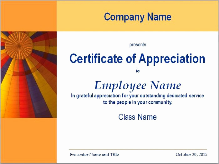 Appreciation Certificate Template Free Best Of 31 Free Certificate Of Appreciation Templates and Letters