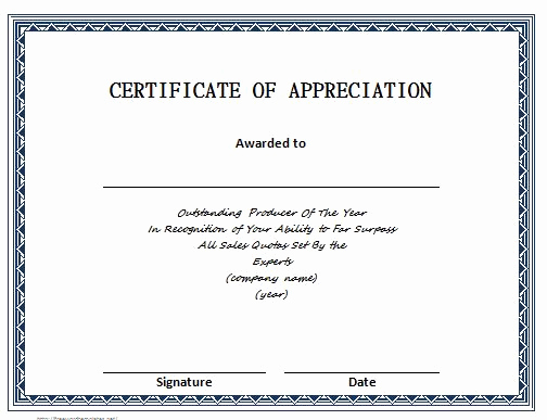 Appreciation Certificate Template Free Elegant 31 Free Certificate Of Appreciation Templates and Letters