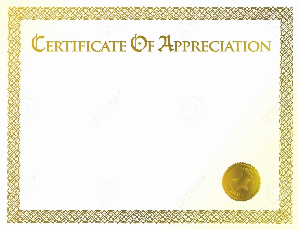 Appreciation Certificate Template Free Elegant Certificate Of Appreciation Template Free Editable