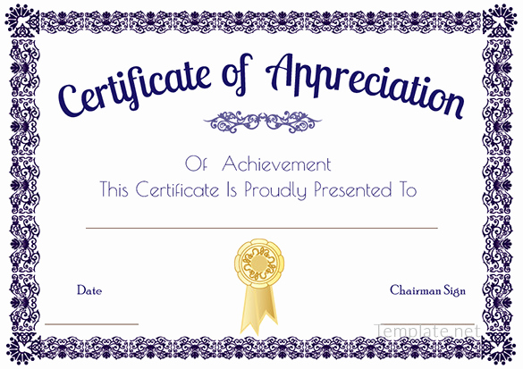 Appreciation Certificate Template Free Lovely Certificate Template – 41 Free Printable Word Excel Pdf