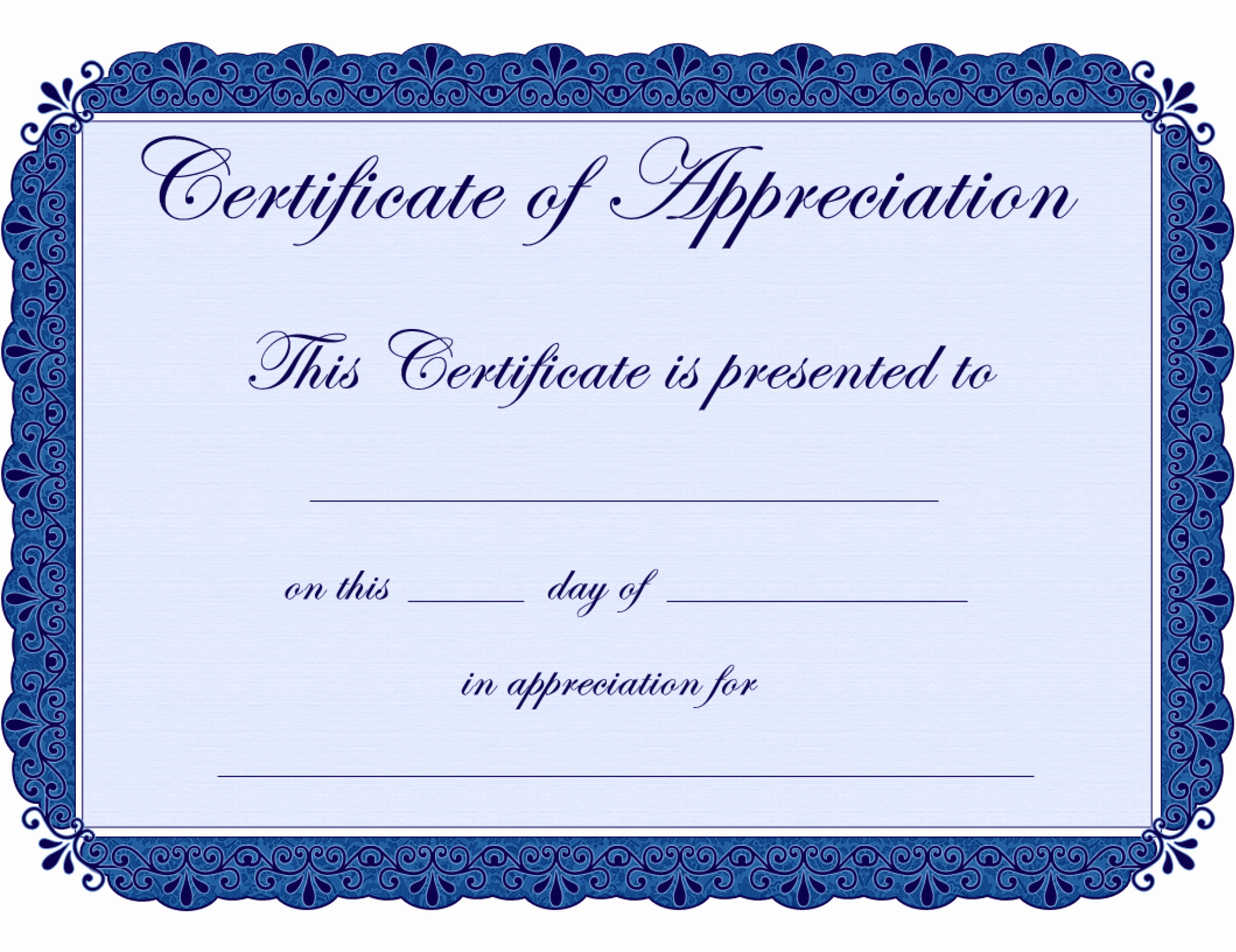 Appreciation Certificate Template Free Luxury Free Printable Certificates Certificate Of Appreciation
