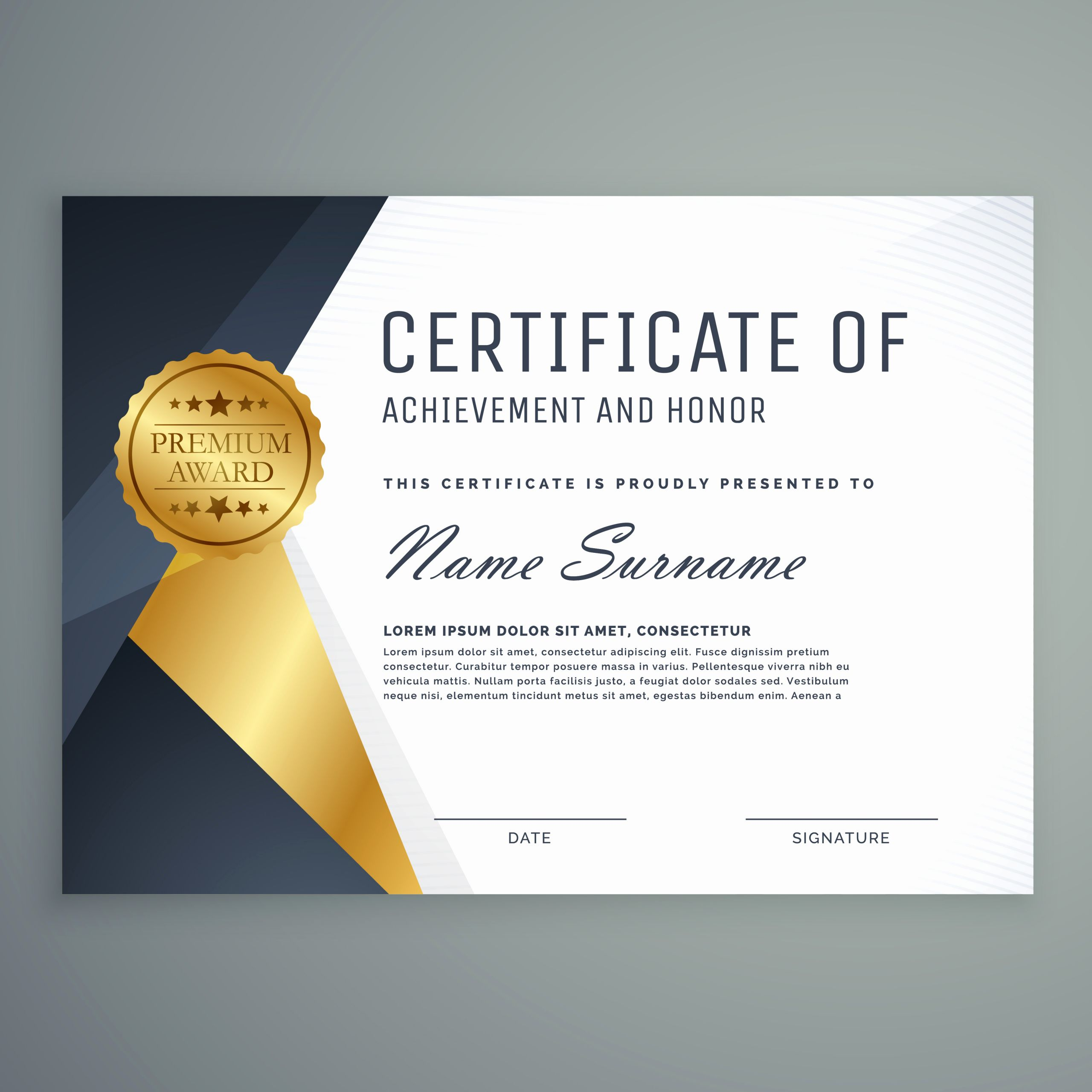 Appreciation Certificate Template Free Luxury Premium Certificate Of Appreciation Award Design