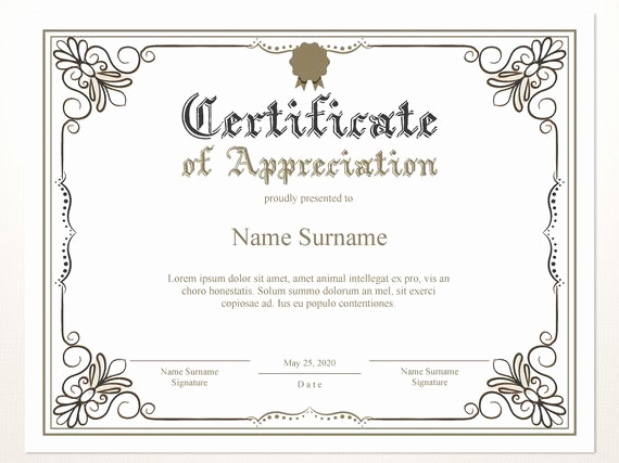 Appreciation Certificate Template Free Luxury Printable Certificate Of Appreciation Certificate Template