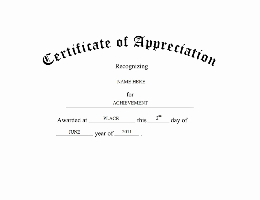 Appreciation Certificate Template Free Unique Certificate Of Appreciation Free Templates Clip Art