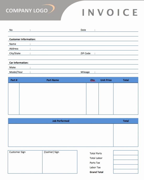 Automotive Repair Invoice Template Inspirational Auto Parts Invoice Template Here S What No E Tells You