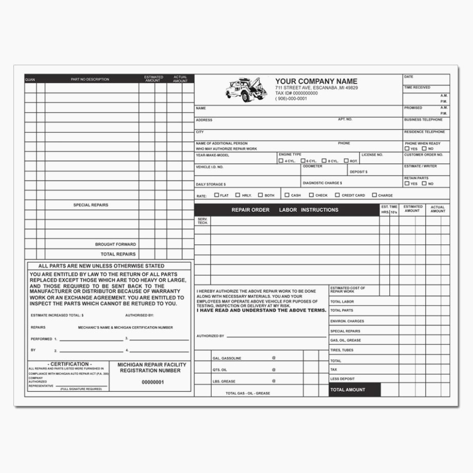 Automotive Repair Invoice Template Unique Never Underestimate the