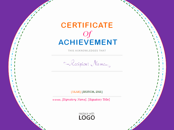 Avery Gift Certificate Template Best Of Certificate Of Achievement Template Microsoft Word Templates