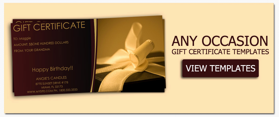 Avery Gift Certificate Template New Gift Certificate Templates to Make Your Own Certificates