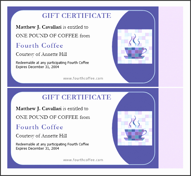 Avery Gift Certificate Template Unique 11 Gift Certificate Sample Sampletemplatess