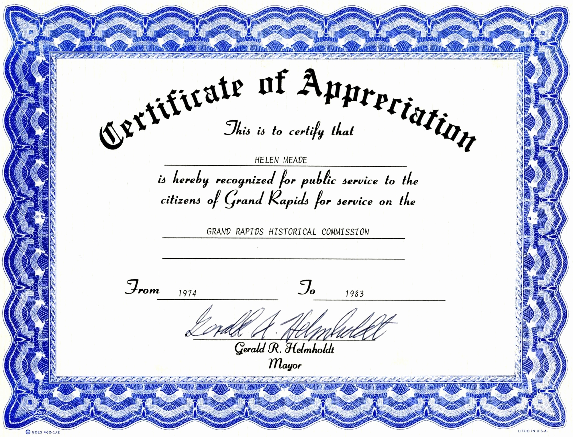 Award Certificate Template Free Download Awesome Appreciation Certificate Templates Free Download