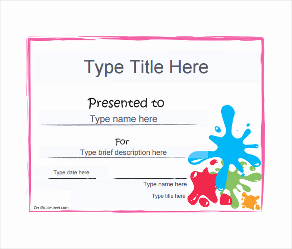 Award Certificate Template Free Download Elegant 12 Blank Gift Certificate Templates – Free Sample