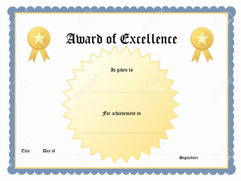 Award Certificate Template Free Download Elegant Certificate Templates Achievement Award Wording Example
