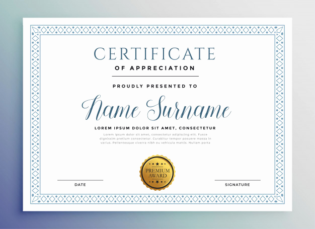 Award Certificate Template Free Download Inspirational Classic Certificate Award Template