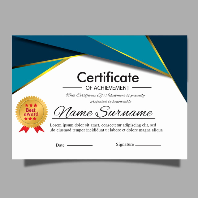 Award Certificate Template Free Download Lovely Elegant Modern Certificate Template for Award Diploma