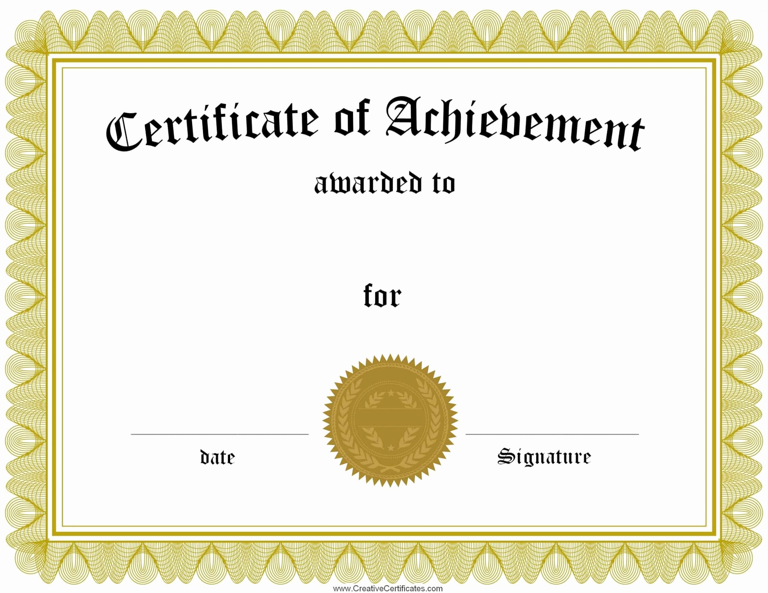 Award Certificate Template Free Download Lovely Free Customizable Certificate Of Achievement